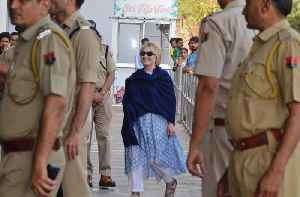 News video: Hillary Clinton treated at hospital for injury at Indian hotel