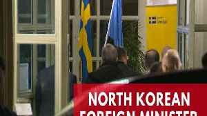 News video: North Korean Foreign Minister Ri Yong Ho arrives in Sweden