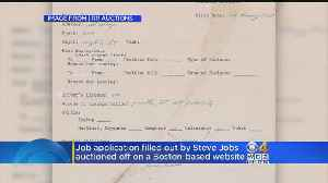 News video: Steve Jobs' Employment Application Sells For Nearly $175,000
