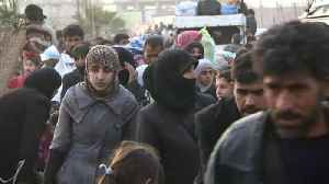 News video: Thousands flee last rebel enclave near Syrian capital Damascus