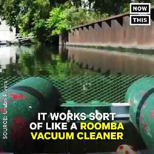 News video: This Robot Cleans Up Trash In Polluted Waterways