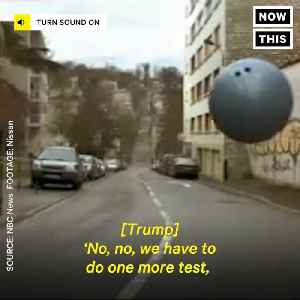 News video: Trump's Bizarre Tale Of The Japanese 'Bowling Ball Test'