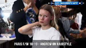 News video: Paris Fashion Week Fall/Winter 2018-19 - Andrew Gn Hairstyle | FashionTV | FTV