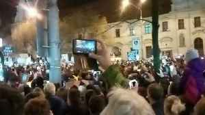 News video: Tens of Thousands Join Anti-Government Protest in Bratislava