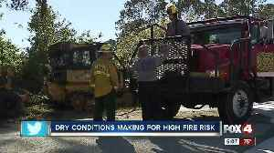 News video: Southwest Florida is at a high risk for fires