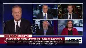 News video: MSNBC's Lawrence O'Donnell tried to connect McCabe firing to cover up Stormy Daniels affair