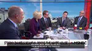 """News video: Stormy Daniels' lawyer tells @Morning_Joe his client has been """"physically threatened."""""""