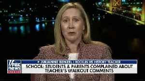 News video: California teacher feels she was 'targeted' when placed on leave for questioning student walkouts