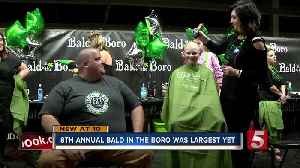 News video: 8th Annual Bald In The Boro Raises Nearly $45K For Cancer Research