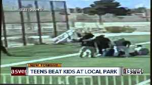 News video: Teens viciously beat up children at local park