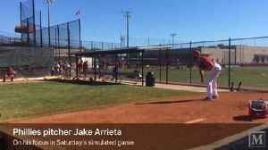 News video: Jake Arrieta throws simulated game