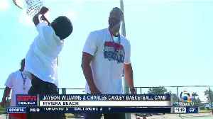 News video: Former NBA stars Jayson Williams and Charles Oakley host their second annual basketball extravaganza