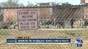 News video: Neighbors fed up with Lakewood High School parking fiasco