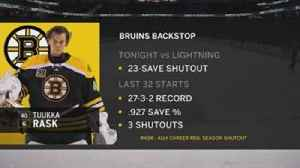 News video: Lightning unable to get anything by Bruins goalie Tuukka Rask