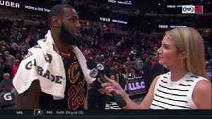 News video: LeBron James explains how he keeps recording triple-doubles