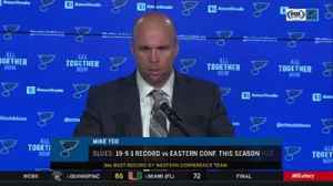 News video: Mike Yeo: 'There were some ups and downs' in Blues' win over Rangers