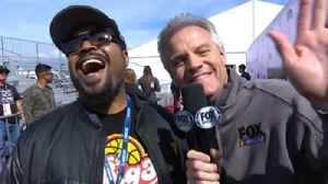 News video: Kenny Wallace talks with Ice Cube before the race in California