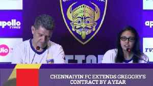 News video: Chennaiyin FC Extends Gregory's Contract By A Year