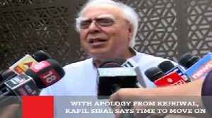 News video: With Apology From Kejriwal, Kapil Sibal Says Time To Move On