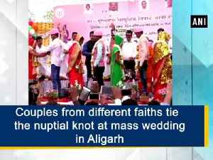 News video: Couples from different faiths tie the nuptial knot at mass wedding in Aligarh