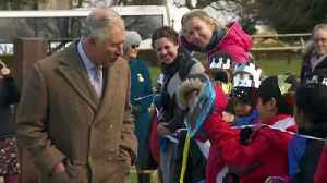 News video: Boy proudly shows off lunchbox to Prince Charles at castle