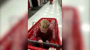 "News video: ""Baby Boy Falls Asleep In A Shopping Cart"""