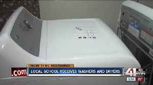News video: Garfield Elementary receives washer and dryer