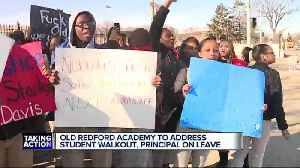 News video: Detroit students, parents demand answers after teacher, principal placed on leave