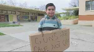 News video: 8-Year-Old's Viral Gun Protest Brings New-Found Fame