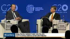 News video: Malpass Says He was Wrong to Say China Dialogue Over