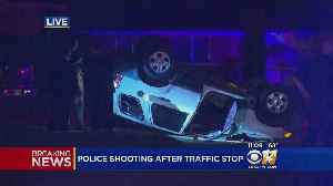 News video: Driver Shot By Police Dies After Striking Officer With Vehicle