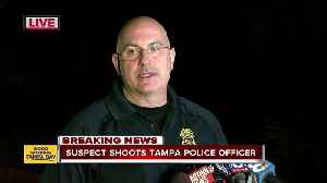 News video: Suspect shoots Tampa Police Officer | Press Conference