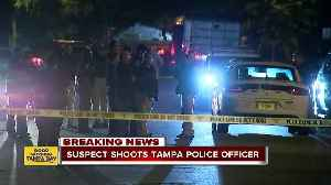 News video: Tampa Police officer shot multiple times while serving warrant, suspect in custody