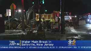 News video: Water Main Break In Belleville, New Jersey