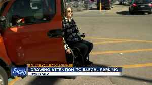News video: Hartland paraplegic woman has police on speed dial over illegal parkers