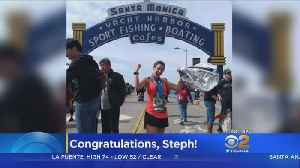 News video: Stephanie Simmons Beats Her Own Time To Finish LA Marathon
