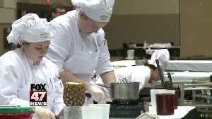News video: Final day of competition in culinary event with high schoolers