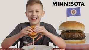 News video: Kids Try Burgers From 10 States | Bon Appétit
