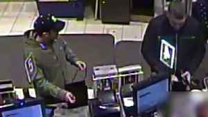 News video: Video Shows Man Installing Skimmer at Rite Aid While Accomplice Distracts Cashier