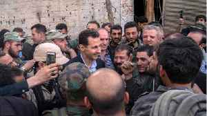 News video: Assad Greets Syrian Troops On Front Line In Rare Public Appearance