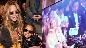 News video: Blue Ivy Carter Bid $19K On Art At Auction With Beyonce & Jay Z