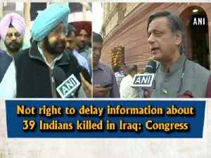 News video: Not right to delay information about 39 Indians killed in Iraq: Congress