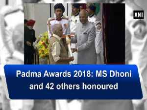 News video: Watch: Padma Awards 2018: MS Dhoni and 42 others honoured