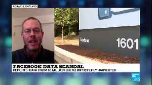 News video: Facebook Data scandal: how are Facebook users'' info being used?