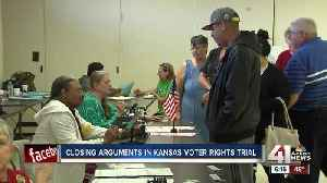 News video: Judge hears closing arguments in Kansas voter law trial