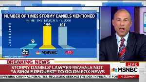 News video: Stormy Daniels Lawyer Complains: Fox News Won't Have Me On, They're Afraid