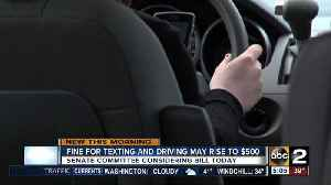 News video: Maryland lawmakers debate $500 fine for texting drivers