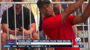 News video: Tennis Great Jimmy Connors Talks Tiger Woods