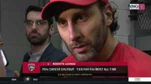 News video: Panthers goalie Roberto Luongo on his 76th career shutout