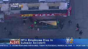 News video: MTA Employee Dies In Subway Accident